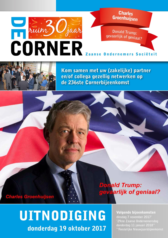 170810 De Corner uitnodiging 19 oktober 2017 cover 1